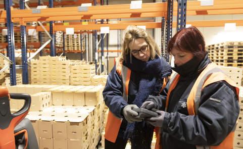 Lactalis logistique & transport - aperçu d'un entrepôt